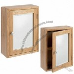 Bathroom Cabinet, Single-fixed Shelf Inside, with a Mirror Set on Front