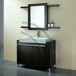 Bathroom Cabinet with Solid Wood Shelf and Mirror
