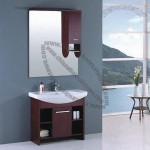 Bathroom Mirror and Solid Wooden Cabinet Set