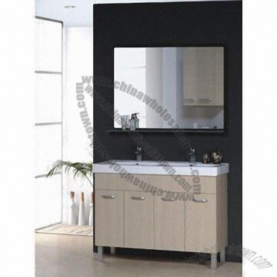 Bathroom Vanity with Cabinet, Basin, Mirror and Countertop