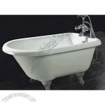 Bathtub, Includes Pillow, Drainer, Bath Faucet, Shower Head, House and Claw