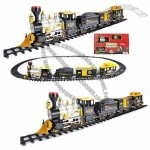 Battery-operated Railway Train Set with Smoking Function, Music and Lights