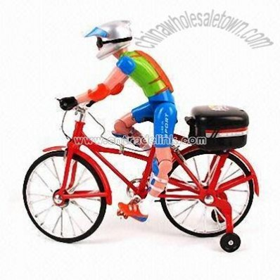 Battery-operated Toy Bicycle with Flashlight and Music