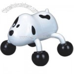 Battery operated dog shaped massager