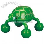 Battery operated turtle shaped massager