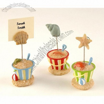 Beach Bucket Place Card Holders