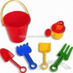 Beach Bucket Set with Rake Toys