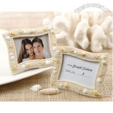 Beach Themed Seashells Place Card Holder/Photo Frame