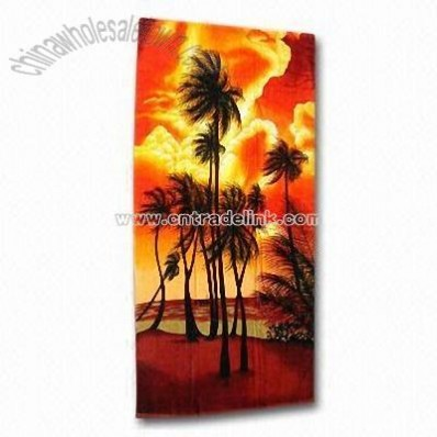 Beach Towel with Pigment Printing
