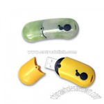 Bean shaped soft polished plastic USB flash drive
