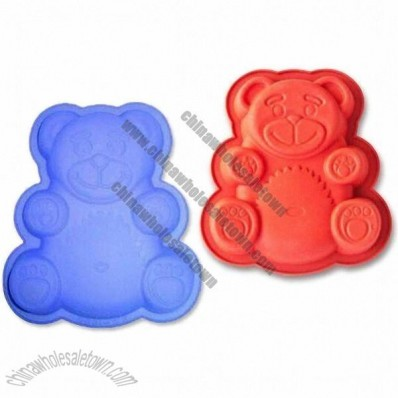 Bear Shaped 6-cup Silicone Muffin Bakeware Pan