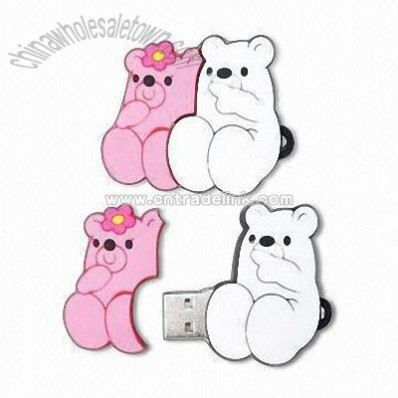 Bear-shaped PVC USB Flash Drive