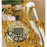 Beautiful Girl Antique Telephone with Clock Display