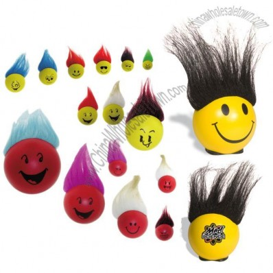 Bed Head Smiley Stress Reliever - FUNKY HAIR BALL