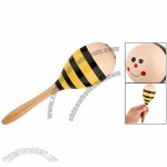 Bee Style Percussion Instrument Kids' Wooden Maracas Toy