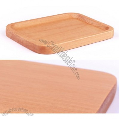Beech Wooden Rectangular Fruit Tray
