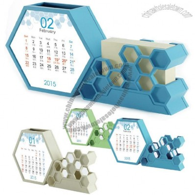 Beehive Desk Calendar Pen Holder