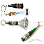Beer Bottle Shape Logo Projector Keychain