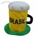 Beer Cup Hat for Brasil Football Fans