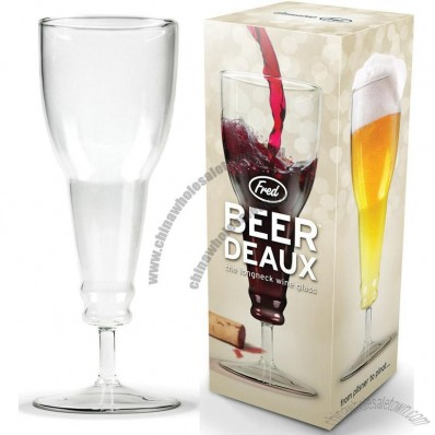 Beer Deaux Longneck Beer Glass Wine Goblet