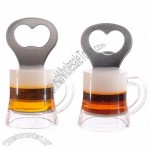 Beer Glass Fridge Magnet Bottle Opener Bell Bottom Design