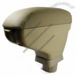 Beige Leather Armrest Box Center Console for 2007-2011 Nissan Versa Tiida Latio Hatchback NEW