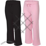 Bella Fleece Straight Leg Open Bottom c
