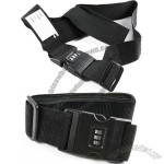 Belt Shape 3 Digits Combination Padlock Lock Tie Black