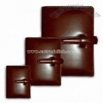 Belt-style Closure PU Leather Portfolio