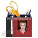Bermahide leather magnetic pencil / frame cup