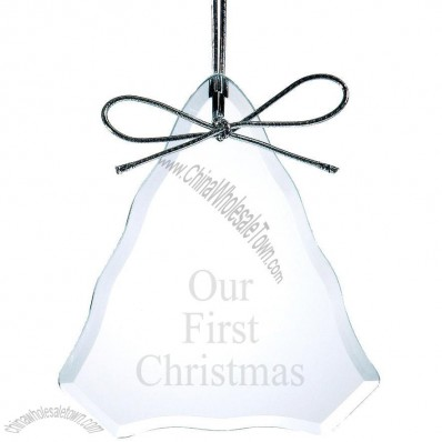 Beveled Glass Christmas Tree Ornament