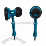 Bi-aural Earphone with Metallic Housing