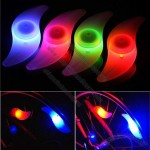 Bicycle LED Hot Wheel Spoke Light, Silicone Flat bar Bike Steel Wire Flash Lights