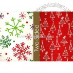 Big Snowflakes Reversible Wrapping Paper