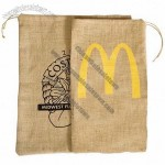 Big Stuff Jute/Burlap Drawstring Bag
