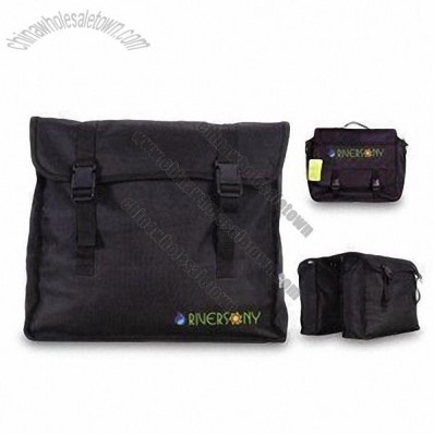 Bike Bag with Reflective Strips and Detachable PE Supporter