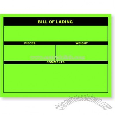 Bill of Lading Shipping Labels