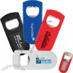 Binary - Plastic bottle opener with two features for opening bottles