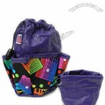 Bingo Bag Colorful Purple w/10 Pockets for Daubers