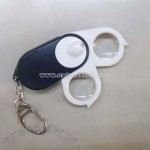 Bino Head Magnifier (Loupe) with LED White Light and Key Chain