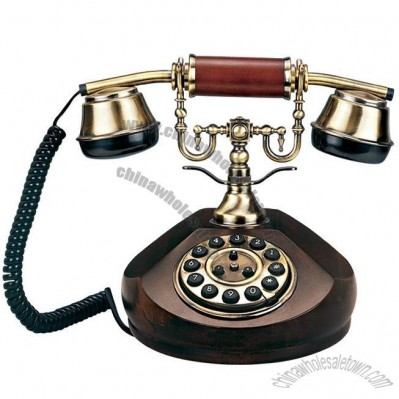 Birch Wood Antique Telephone