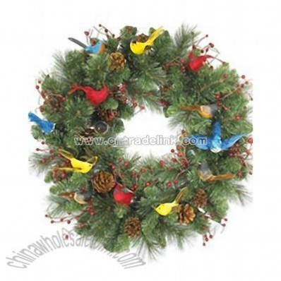 Birds and Berries Wreath and Garland