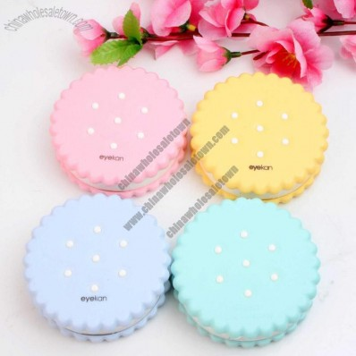 Biscuits Shaped Contact Lens Case