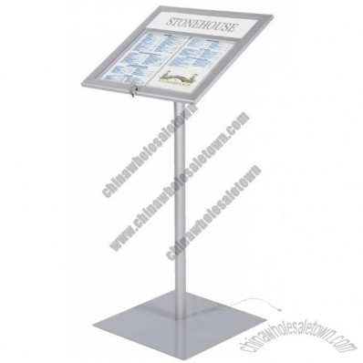 Bistro External Menu Display Stand with LED Illuminated