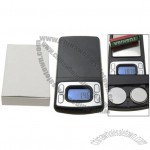 Black 100 x 0.01 Gram Mini Pocket Digital Jewelry Scale