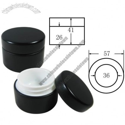 Black 15g Bamboo Cosmetic Cream Container