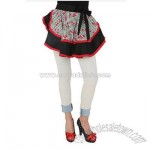 Black And Red Cherry Half Apron