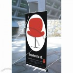 Black Cap Heavy Base Roll Up Banner Stand 33
