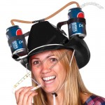 Black Cowboy Drinking Hat