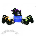 Black Crouching Cats W/ 3Asst. Color